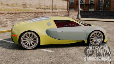 Bugatti Veyron Gold Centenaire 2009 для GTA 4 вид слева