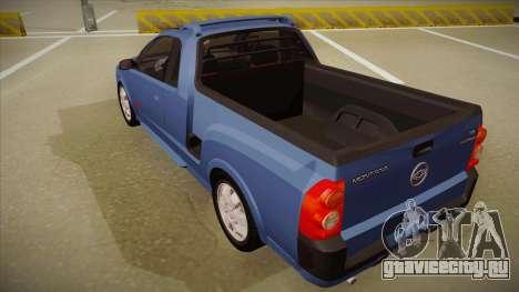 Chevrolet Montana Sport 2008 для GTA San Andreas вид сзади