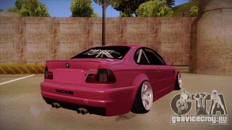 BMW M3 E46 Stance для GTA San Andreas вид справа