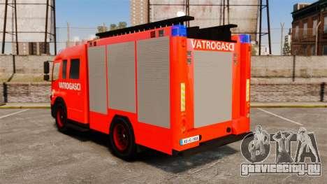 Mercedes-Benz Atego Koprivnica Fire Dept. [ELS] для GTA 4 вид сзади слева