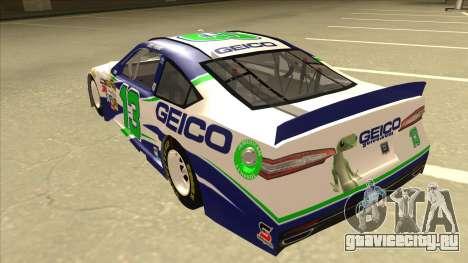Ford Fusion NASCAR No. 13 GEICO для GTA San Andreas вид сзади