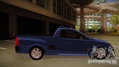 Chevrolet Montana Sport 2008 для GTA San Andreas вид сзади слева