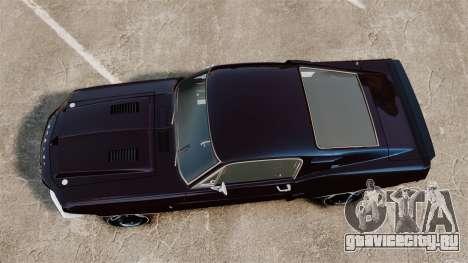 Shelby GT500 для GTA 4 вид справа