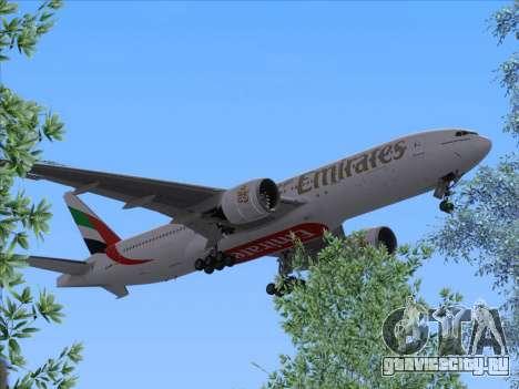 Boeing 777-21HLR Emirates для GTA San Andreas вид сзади слева