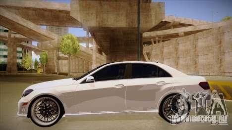 Mercedes-Benz E63 6.3 AMG Tedy для GTA San Andreas вид сзади слева