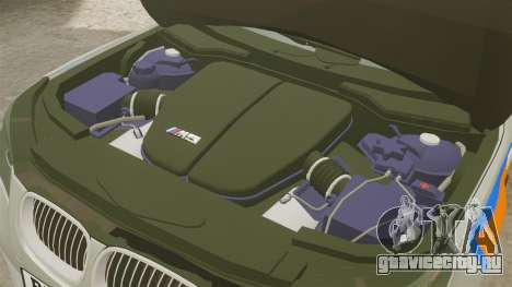 BMW M5 E60 Metropolitan Police 2006 ARV [ELS] для GTA 4 вид изнутри