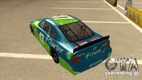 Toyota Camry NASCAR No. 47 Charter для GTA San Andreas вид сзади