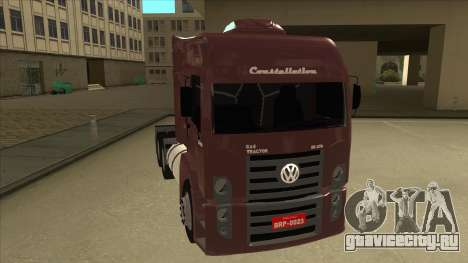 Volkswagen Constellation 25.370 Tractor для GTA San Andreas вид слева