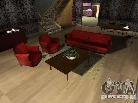 Новый интерьер 2-ух этажного дома CJ для GTA San Andreas пятый скриншот