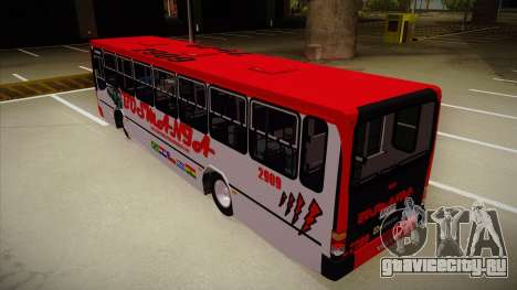 Busscar Urbanus SS Volvo B10 M Busmania для GTA San Andreas вид сзади