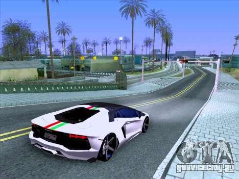 Lamborghini Aventador LP700-4 Vossen 2012 V2.0 F для GTA San Andreas вид сбоку