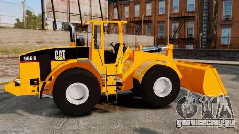 Фронтальный колёсный погрузчик Caterpillar 966G для GTA 4 вид слева
