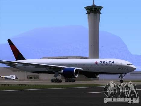 Boeing 777-200ER Delta Air Lines для GTA San Andreas колёса