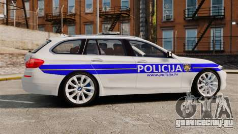 BMW M5 Touring Croatian Police [ELS] для GTA 4 вид слева