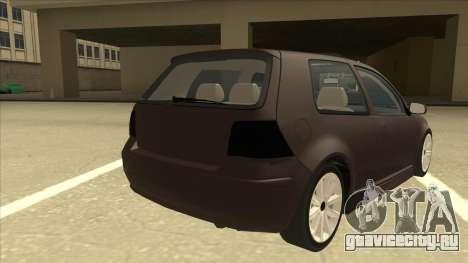 VW Golf 4 Tuned для GTA San Andreas вид справа