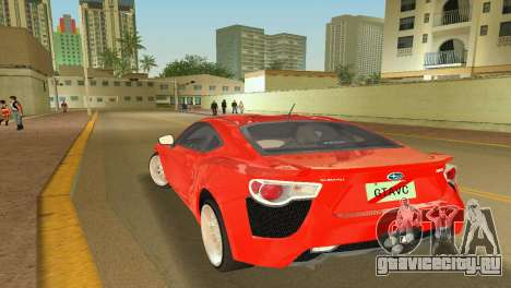 Subaru BRZ Type 2 для GTA Vice City вид слева
