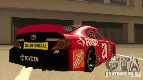 Toyota Camry NASCAR No. 20 Husky для GTA San Andreas вид справа