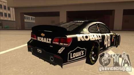 Chevrolet SS NASCAR No. 48 Kobalt Tools для GTA San Andreas вид справа