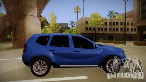 Dacia Duster SUV 4x4 для GTA San Andreas вид сзади слева