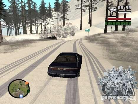 Новогодний спидометр для GTA San Andreas второй скриншот