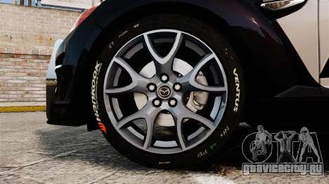 Mazda RX-8 R3 2011 Police для GTA 4 вид сзади