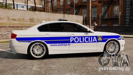 BMW M5 Croatian Police [ELS] для GTA 4 вид слева