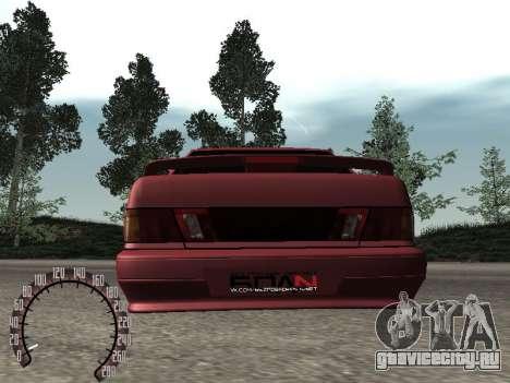 ВАЗ 2115 БПАN для GTA San Andreas вид сзади