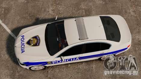 BMW M5 Croatian Police [ELS] для GTA 4 вид справа