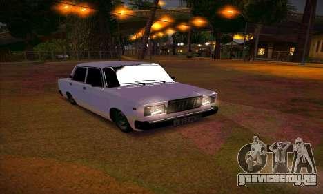 ВАЗ 2107 Сток Посаженная для GTA San Andreas