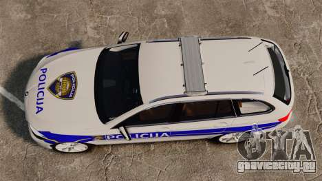 BMW M5 Touring Croatian Police [ELS] для GTA 4 вид справа