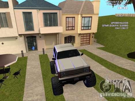 Rancher Monster для GTA San Andreas вид изнутри