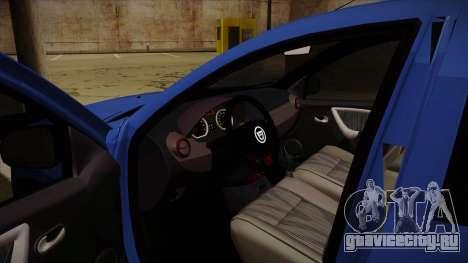 Dacia Duster SUV 4x4 для GTA San Andreas вид изнутри