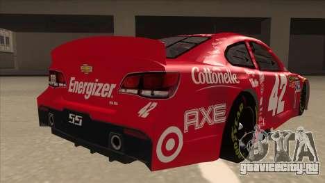 Chevrolet SS NASCAR No. 42 Clorox для GTA San Andreas вид справа