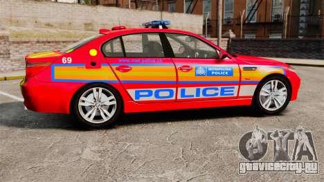 BMW M5 E60 Metropolitan Police 2010 ARV [ELS] для GTA 4 вид слева