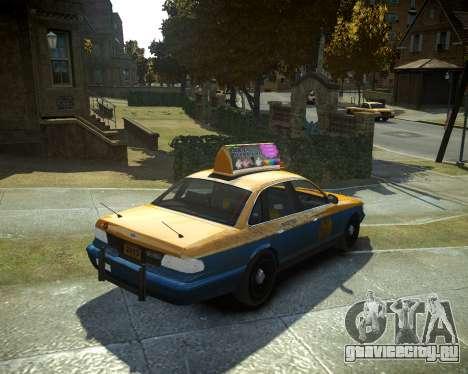 GTA V Taxi для GTA 4 вид слева