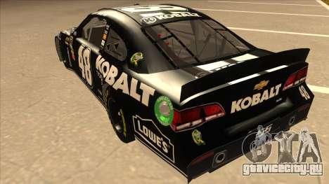 Chevrolet SS NASCAR No. 48 Kobalt Tools для GTA San Andreas вид сзади