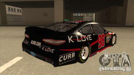 Ford Fusion NASCAR No. 98 K-LOVE для GTA San Andreas вид справа