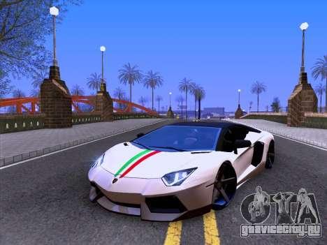 Lamborghini Aventador LP700-4 Vossen 2012 V2.0 F для GTA San Andreas вид изнутри