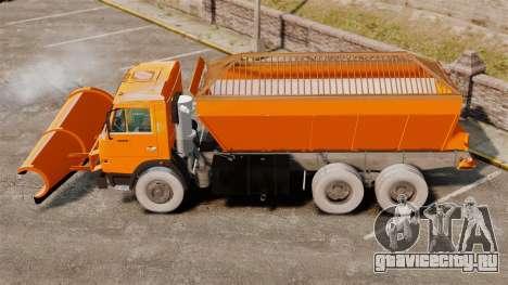 КамАЗ-53215 снегоуборщик для GTA 4 вид слева