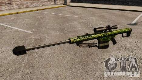 Снайперская винтовка Barrett M82 v4 для GTA 4 третий скриншот
