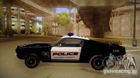 Shelby Mustang GT500 Eleanor Police для GTA San Andreas вид сзади слева