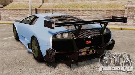 Lamborghini Murcielago RSV FIA GT1 v3.0 для GTA 4 вид сзади слева