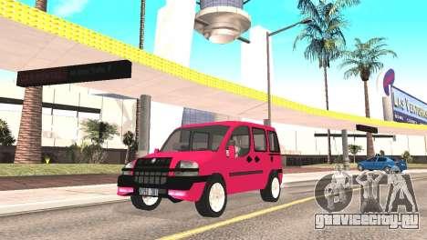 Fiat Doblo для GTA San Andreas вид сзади слева