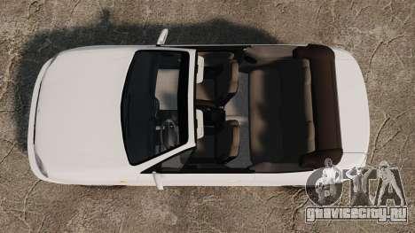 Daewoo Lanos 1997 Cabriolet Concept для GTA 4 вид справа