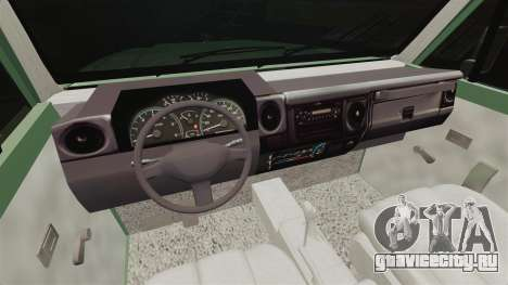 Toyota Land Cruiser 76 2005 для GTA 4 вид сзади
