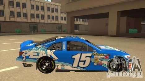 Toyota Camry NASCAR No. 15 Peak для GTA San Andreas вид сзади слева