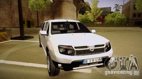 Dacia Duster Limuzina для GTA San Andreas вид слева