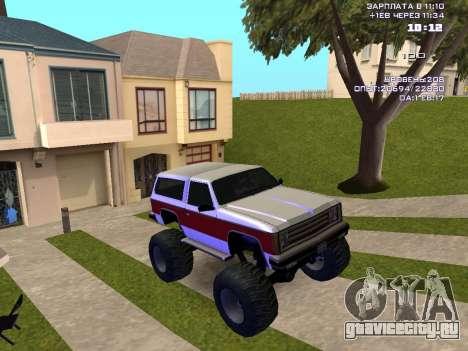 Rancher Monster для GTA San Andreas вид сзади