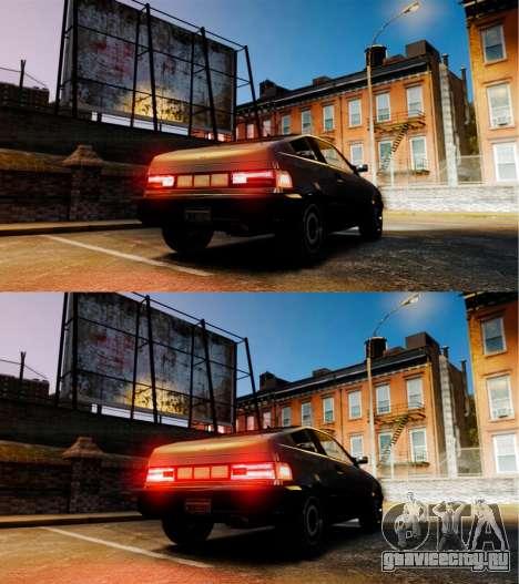 Blista с новыми задними фарами для GTA 4 вид сзади слева