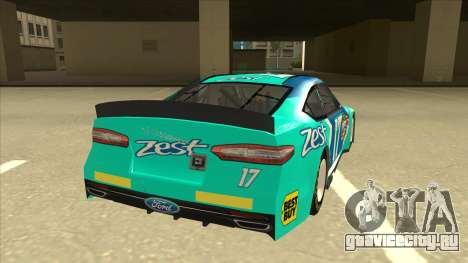 Ford Fusion NASCAR No. 17 Zest Nationwide для GTA San Andreas вид справа